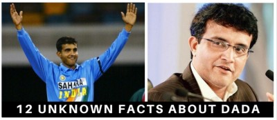 12 Unknown Facts About Sourav Ganguly We Bet You Didn't Know