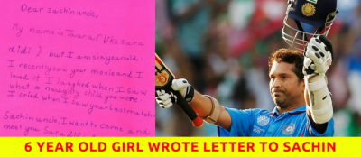 Read This Heart-Warming Letter of A 6 Year Old Girl To Sachin Tendulkar