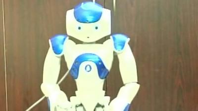 software engineer vijay develops humanoid robot which will help customers in banks