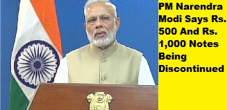 Notes of 500 and 1000 to be deposited with the banks: PM