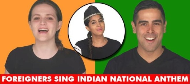 Watch This Video of Foreigners Singing Our Indian National Anthem